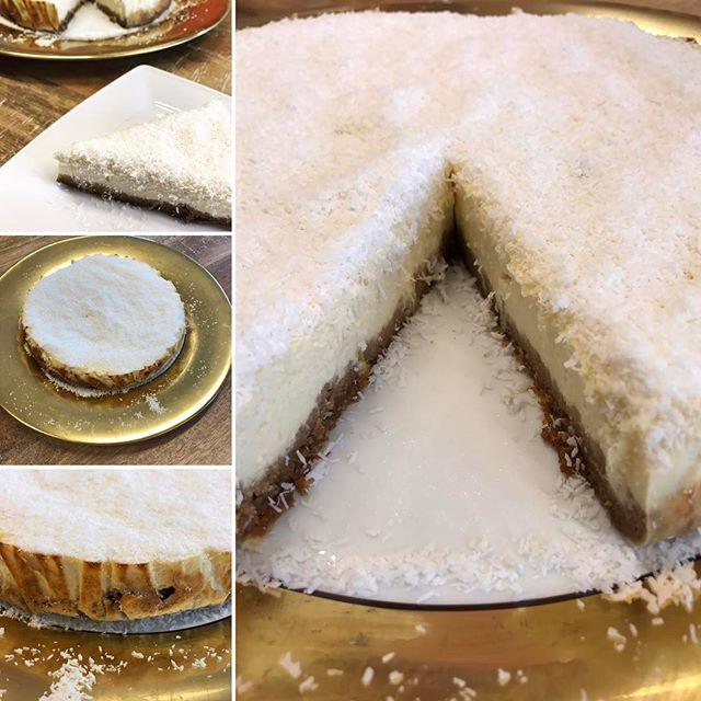 KOKOS- & LIMOENCHEESECAKE.  Daar is die dan, het recept van deze uberlekkere cheesecake. Door limoen toe te voegen valt deze taartvorm niet zo zwaar op de maag. Ga jij 'm dit weekend nog maken?  Recept: link in bio of te volgen via Facebook: de keukenboef. Leuk als je mij gaat volgen, op naar de 10.000 volgers op Insta én Facebook…