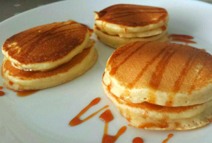 Voor de kids snelle American pancakes gemaakt. Ze zijn iets zoet, als je ze nog iets zoeter wil gebruik dan 160 gram suiker. Ik gebruik voor het bakken van de pancakes een gourmet bakplaat. Ik heb een grote, dus kan ik veel tegelijkertijd bakken.