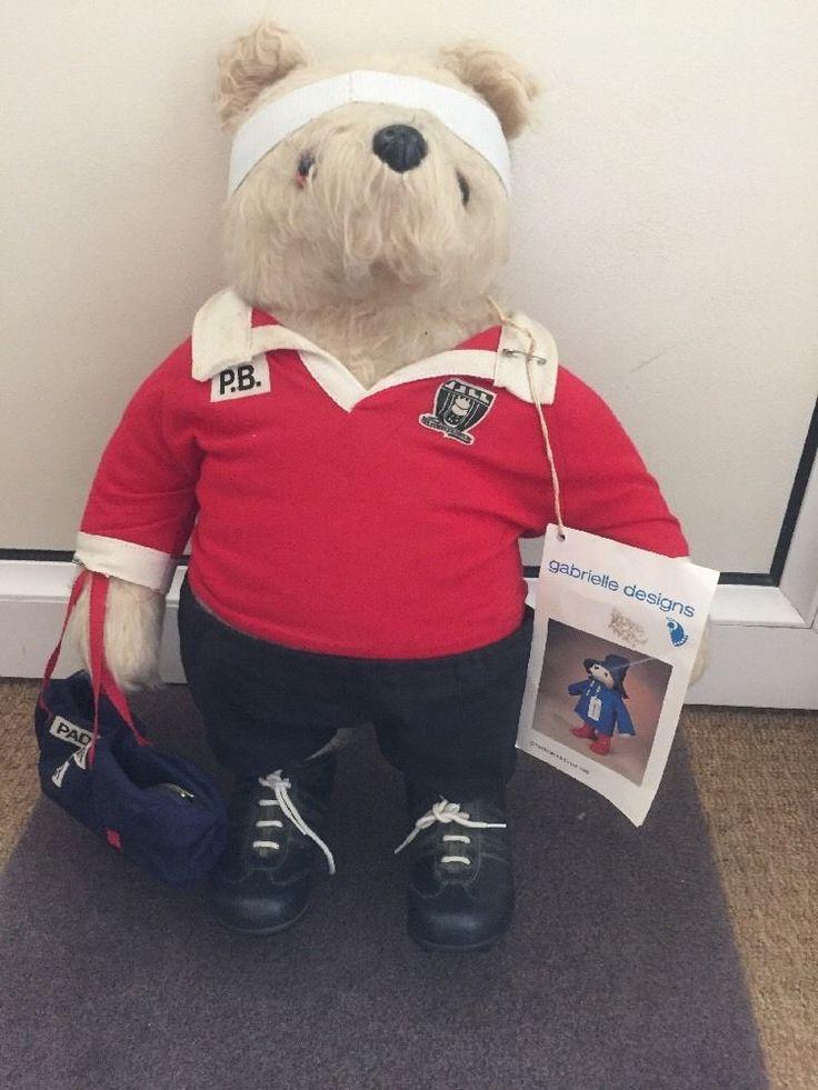 Original Vintage Gabrielle Designs Paddington Bear Rugby Player Welsh rugby?   eBay