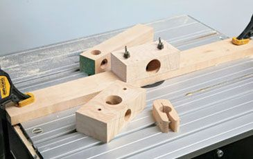 This is probably the simplest and quickest router jig you will ever make, but it is a certainly very effective way of making your own dowels. You won't need much in the way of materials to make it, though the router does have to be mounted under a