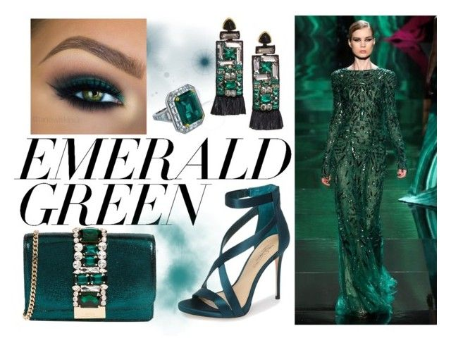 """""""Emerald"""" by misisspoly on Polyvore featuring moda, Imagine by Vince Camuto, Lizzie Fortunato, GEDEBE e emeraldgreen"""