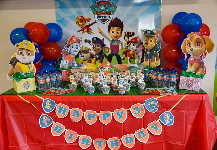 Paw Patrol party decorations free printables