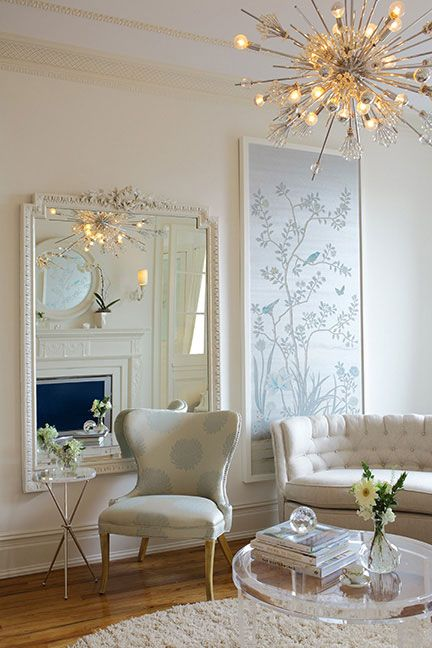 Framed wallpaper panel de Gournay: Our Collections - Wallpapers & Fabrics Collection - Chinoiserie Collection |