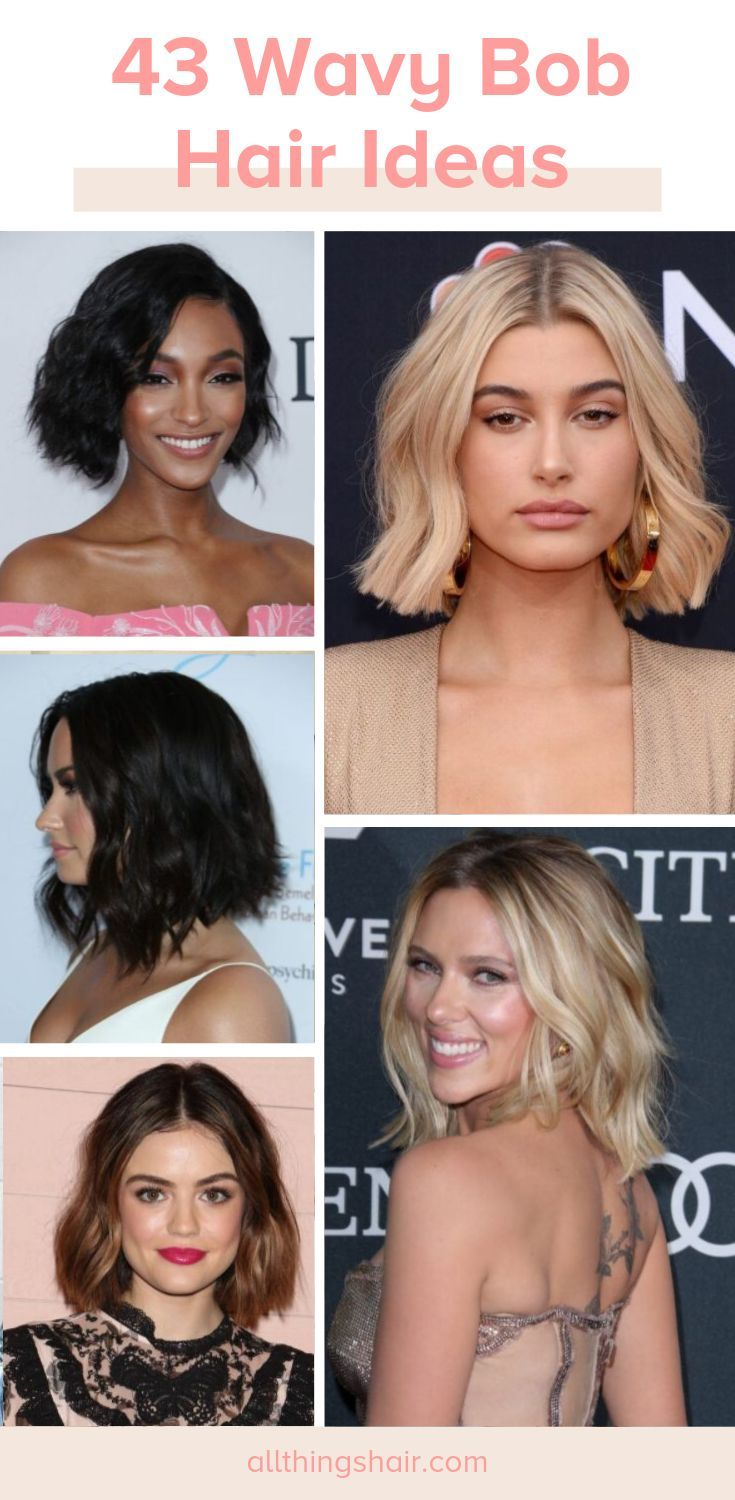 Find the best wavy #bob hairstyles for 2019 and get inspired by our collection of #wavy bob hairstyles for all hair lengths. #Wavybob #Bob #Wavyhairst...
