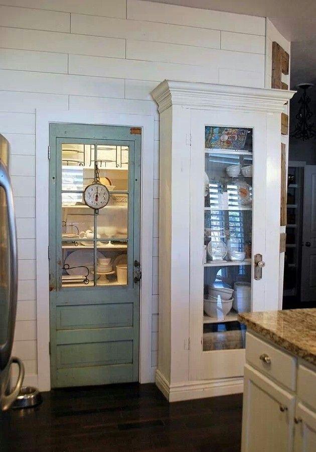 Fantastische Einzigartige Pantry Tur Design Ideen Bild 19 Kitchen With Images Glass Pantry Door Vintage Pantry Kitchen Pantry Doors