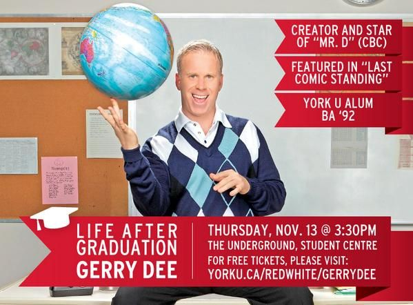 A funny guy for a Funny board: #YorkU Alumnus Gerry Dee at Red & White, Nov 13 2014: http://www.yorku.ca/redwhite/schedule
