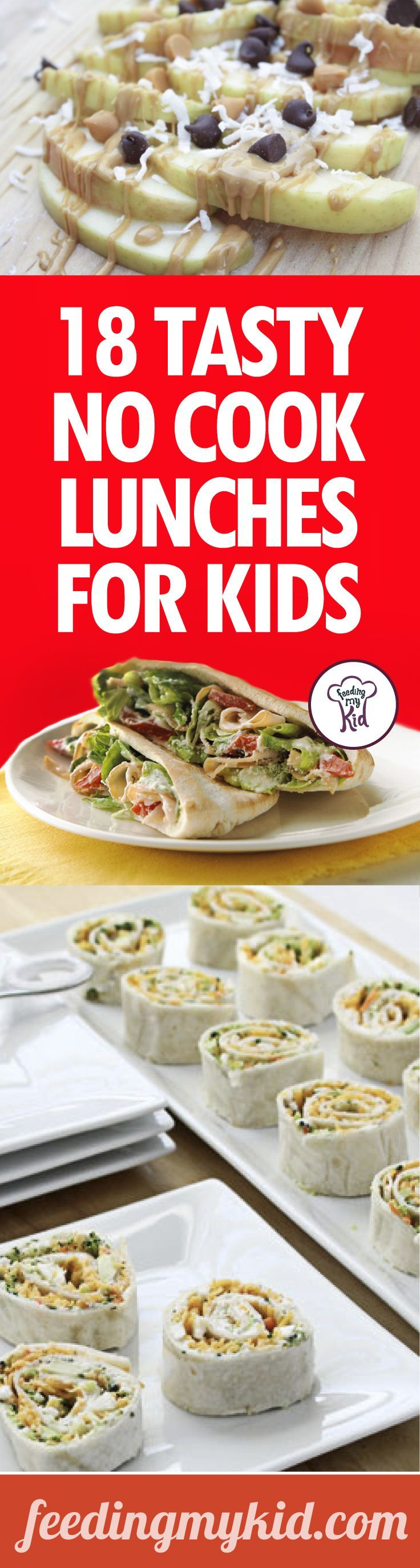 18 Tasty No Cook Lunches For Kids - We've got an amazing list of no cook lunch…