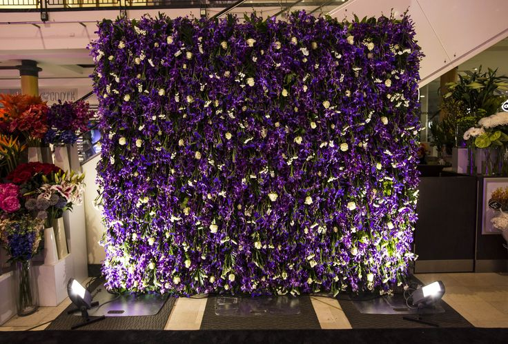 Our beautiful Centre Flowers flower wall.