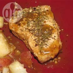 Photo de recette : Côtelettes de porc poêlées au romarin et à l'ail