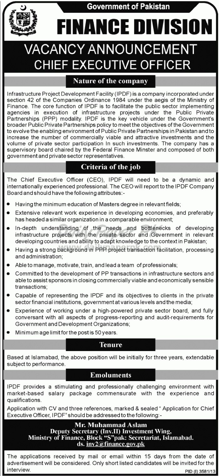 Job Opportunities Government of Pakistan Ministry of Finance Islamabad  For details and how to apply: http://www.dailypaperpk.com/jobs/207646/job-opportunities-government-pakistan-ministry-finance-islamabad