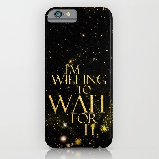 Wait for It Black & Gold Sparkle Phone Case ~ $35 ~ Hamilton Gifts!