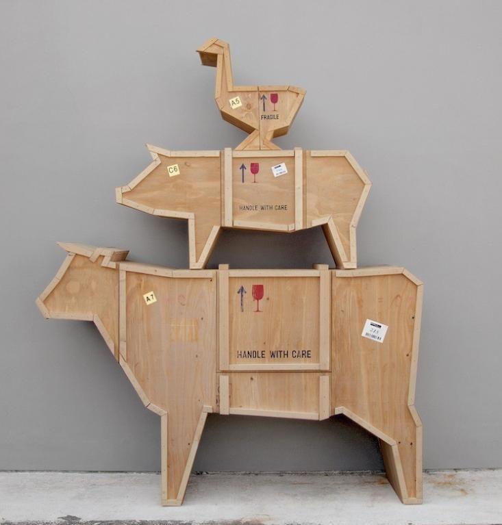 Marcantonio Raimondi Malerba has designed a set working farm animals that will continue to make themselves useful in your kitchen., Sending Animals Convenient Cow, Seletti, via Remodelista