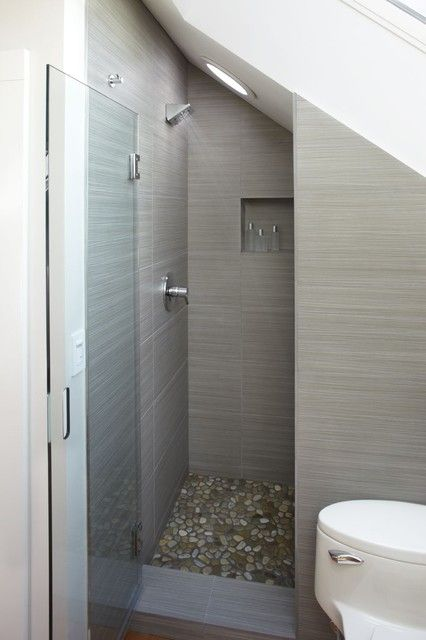 pebble tile shower floor - tastful