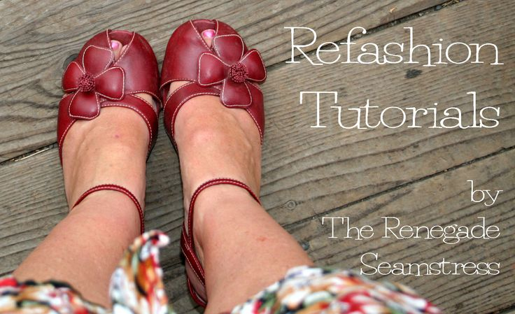 Refashion Tutorials... tons of tutorials for thrift store redos...super cool