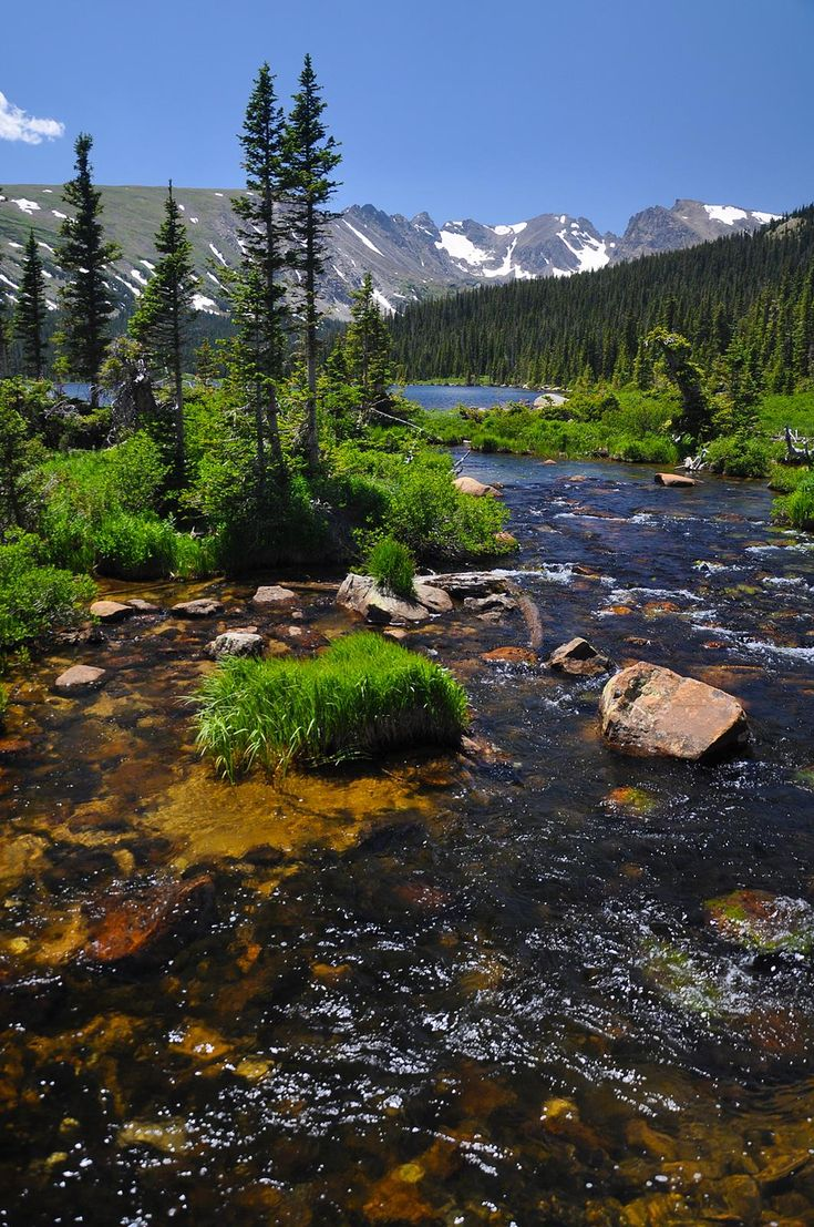 Roosevelt National Forest located in north central Colorado bordering Rocky Mountain National Park.