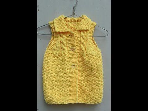 Đan áo len cho bé 3-6 tháng phần 1 - YouTube