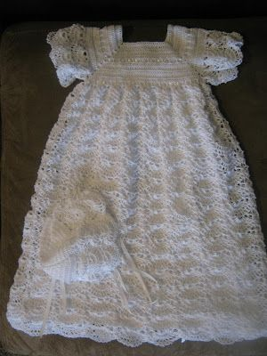 Free Crochet Christening Gown   really enjoy crocheting christening blessing dresses this is the
