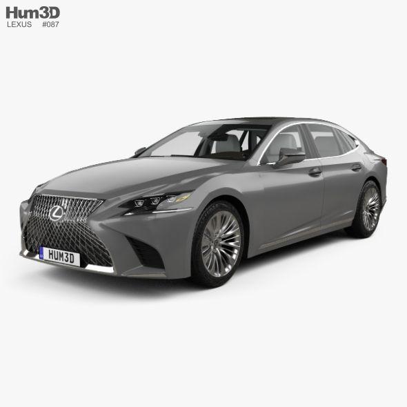 Lexus Ls Xf50 With Hq Interior 2017 Fully Editable And Reusable 3d Model Of A Car 3d 3dmodel 3ddesign 2018 2020 4 Door Face Lexus Ls Lexus Car Brands