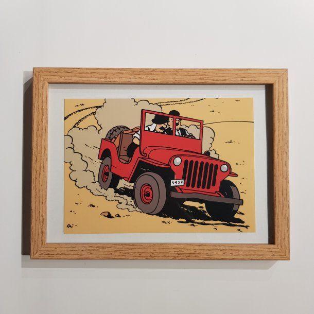 Tintin Billede I Ramme Jeep Billeder Thomsons In 2020 Tintin Merchandise Adventure