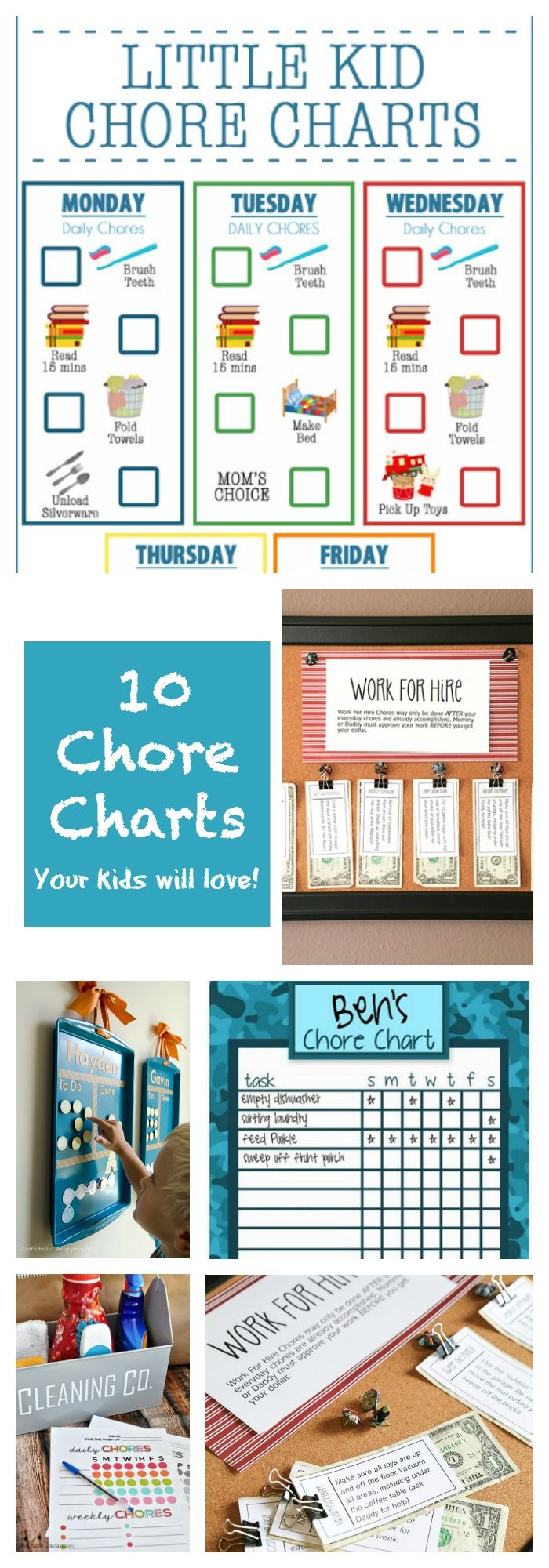 Free chore chart printable round up!! These 10 are our favorite and will totally get your kids excited about cleaning! <3
