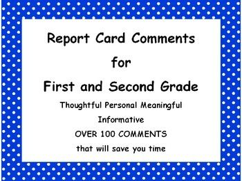 Report Card Comments To Improve Writing Skills   teacher comments