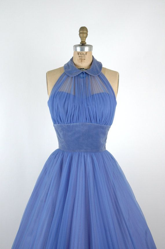 Vintage Periwinkle Party Dress via Dalena Vintage