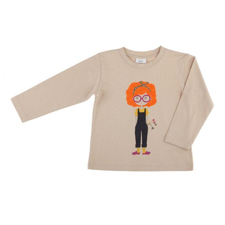 T-shirt com estampa menina