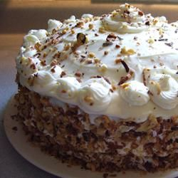 Carrot Cake vey similar to my mom's version. Think this is on the Menu of Thanksgiving also...