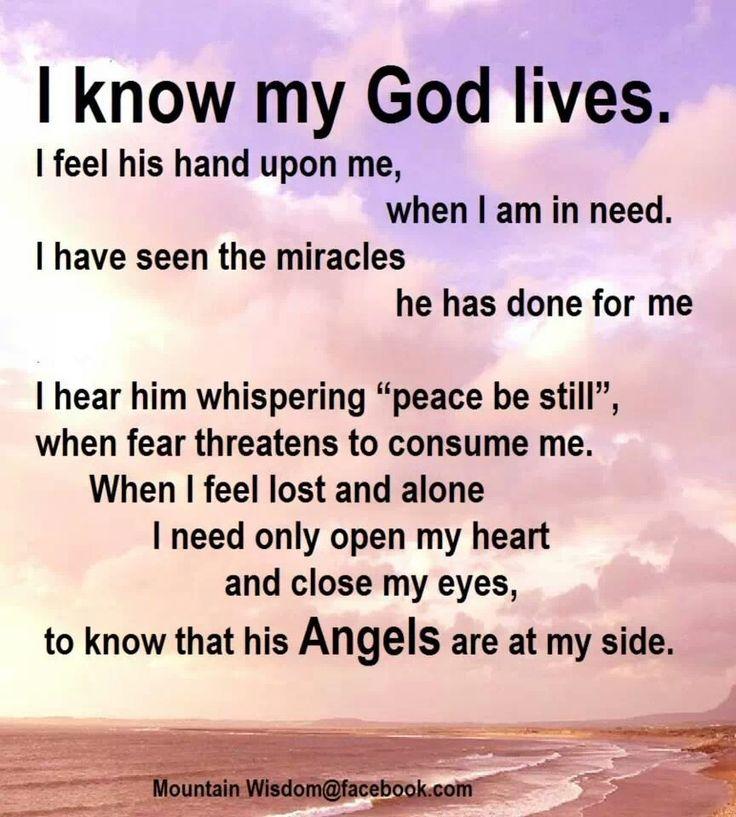 I Know My God Lives. Good News, He Allows You To Live Too