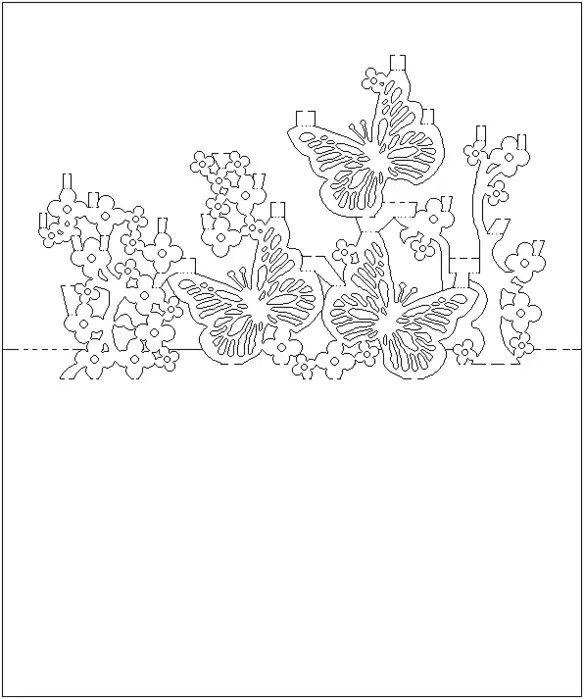Ажурные открытки шаблоны