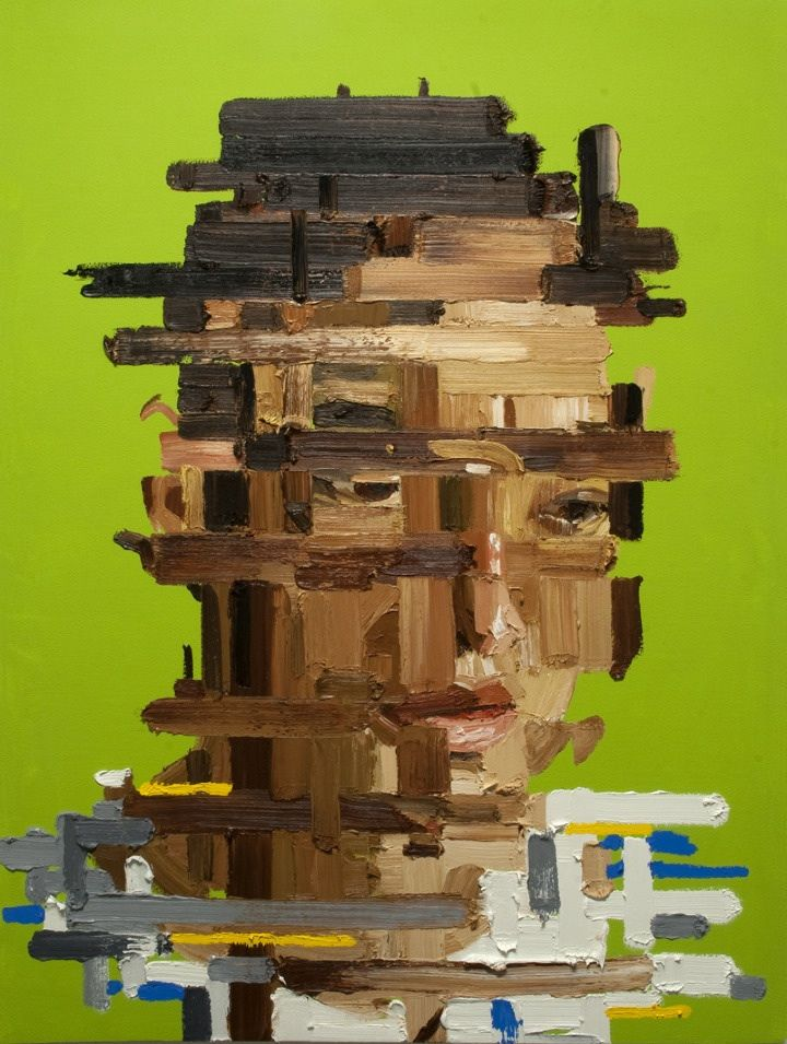 Erik Olson Combines the Slices of Life into Fascinating Portraits #painting #portrait