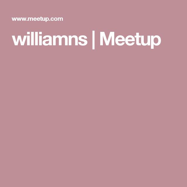 williamns     | Meetup