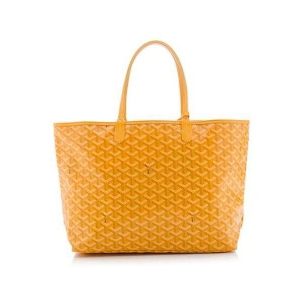 Rental Goyard St. Louis PM Tote ($175) ❤ liked on Polyvore featuring bags, handbags, tote bags, yellow, handbags totes, yellow tote handbag, yellow purse, goyard purse and tote bag purse