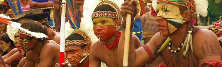 Local Indians from the Pataxo tribe in Arraial d'Ajuda