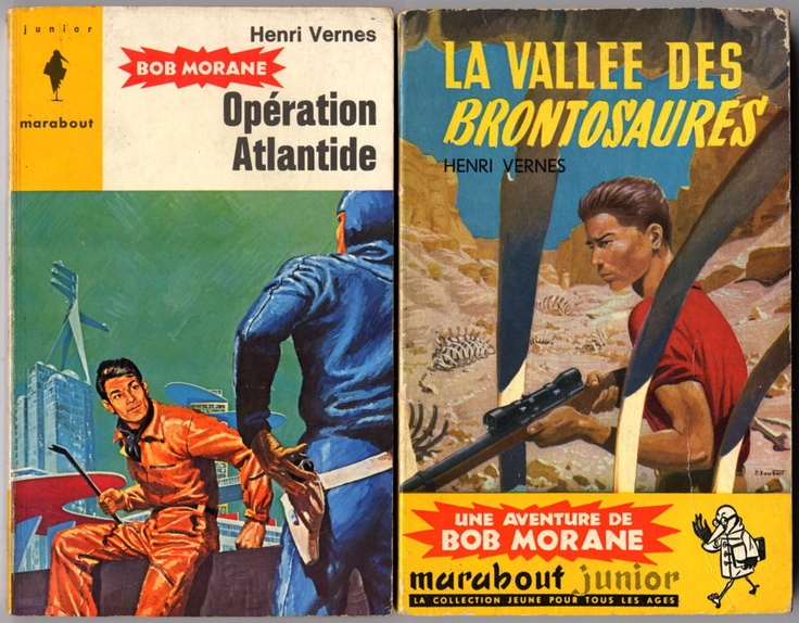 Bob Morane had rotten science fiction adventures but the covers made me dream
