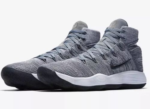 5dcc672a0ac2 Nike Hyperdunk 2017 Flyknit Mens Basketball Shoes 10.5 Cool Grey 917726 007   Nike  BasketballShoes