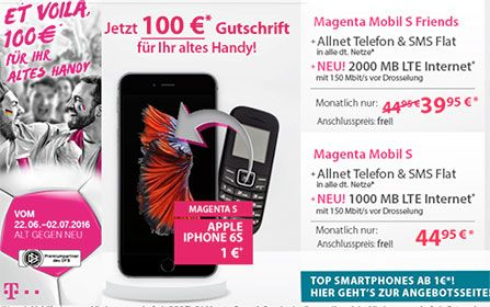Telekom Magenta Mobil S ab 39,95€ mit TOP-Smartphone ab 1€ http://www.simdealz.de/telekom/magenta-mobil-s-mit-top-smartphone/