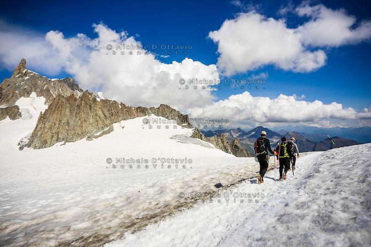 Monte Bianco, Valle d'Aosta, Italy.