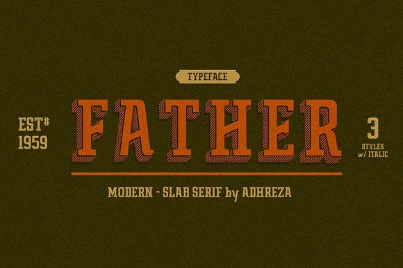 Father Typeface by Adhreza on @creativemarket