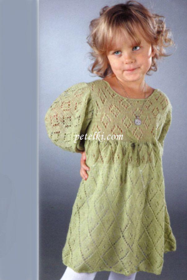Ажурное платье с кокеткой