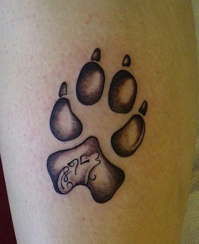 les 25 meilleures id es de la cat gorie tatouages patte sur pinterest tatouages d 39 empreinte de. Black Bedroom Furniture Sets. Home Design Ideas