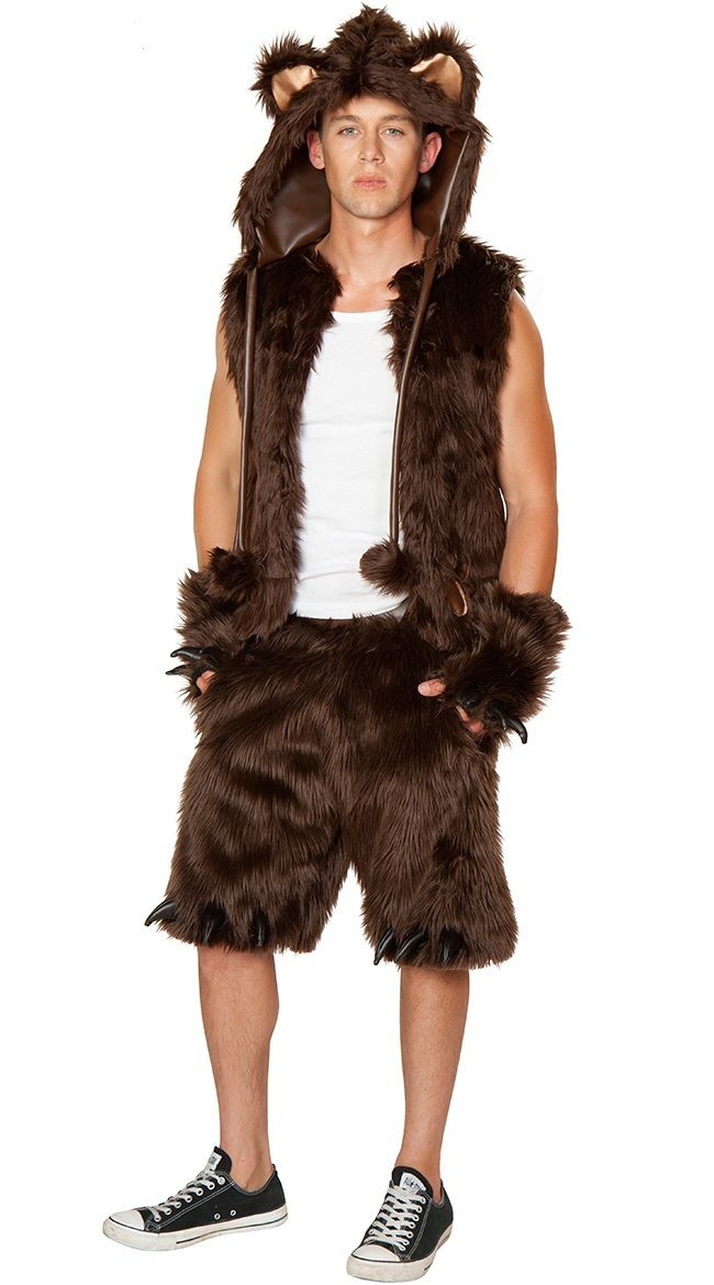 Sexy Men's Furry Brown Bear Costume Halloween Fancy Dress Costume Lingerie NC829-in Clothing from Novelty & Special Use on Aliexpress.com | Alibaba Group