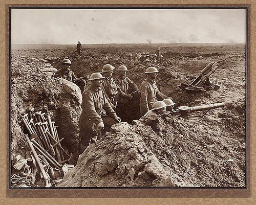 In the trenches WWI ANZAC troops  (State Library of NSW)