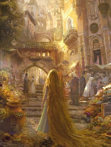 """""""Beautiful Morning"""" Tangled art from the Walt Disney Studios Collection"""