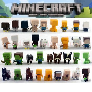 36pcs/set Hot Sale Minecraft Game Toys Model Juguetes Sword Espada Minecraft Action Figure Kid Toy Christmas Gifts Brinquedos
