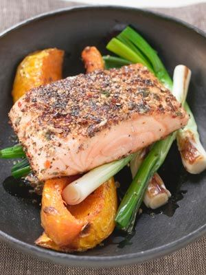 Coldwater fish like salmon contain heart-healthy omega-3 fatty acids and are a great source of lean protein. Find more delicious heart-healthy foods here.