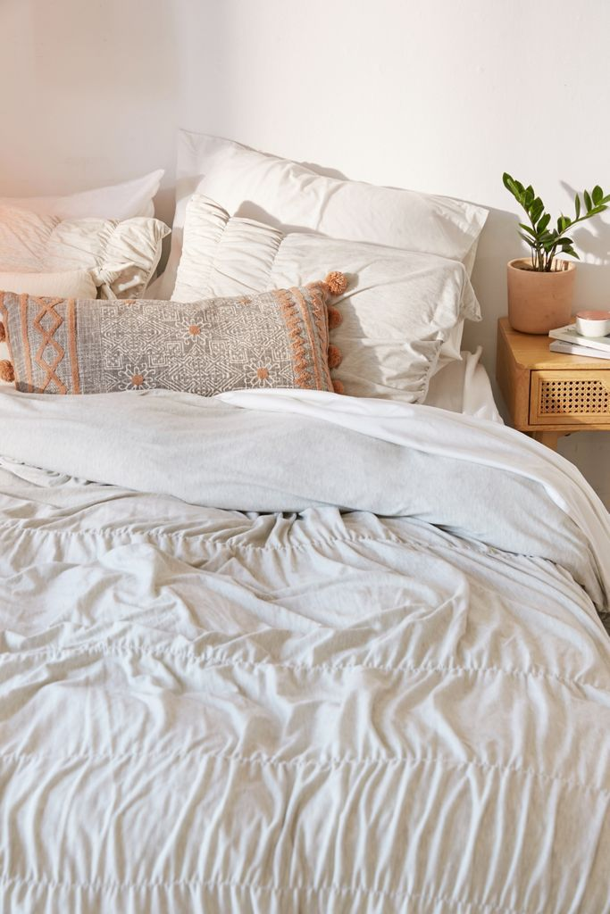 Cinched Jersey Duvet Cover Urban Outfitters Canada In 2020 Bed Linens Luxury Bedding And Curtain Sets Luxury Bedding Sets