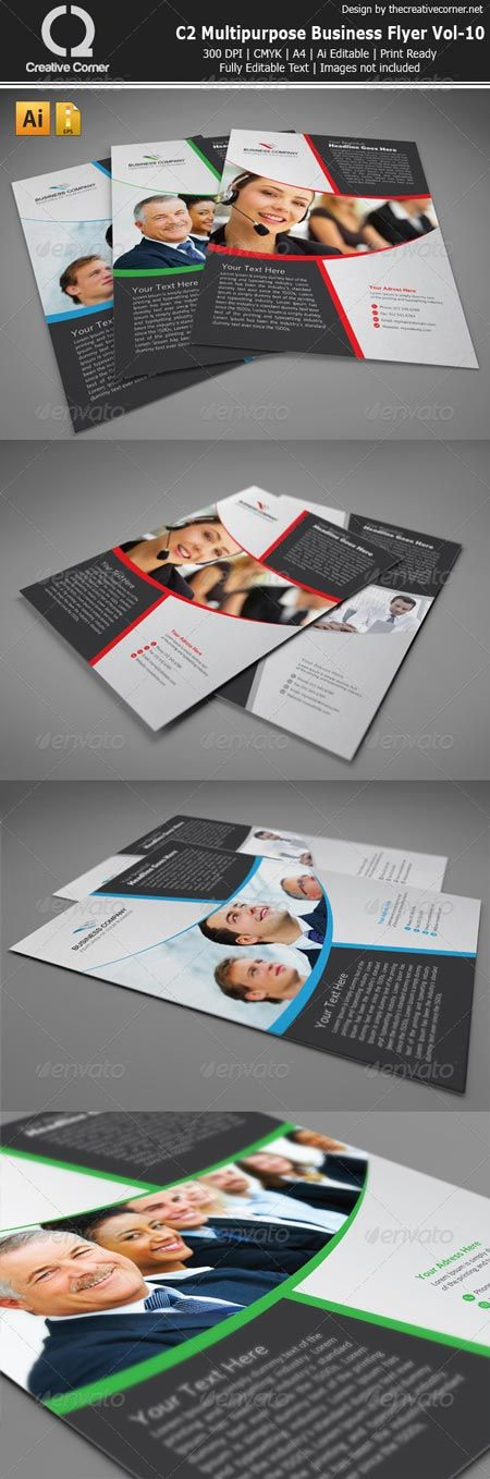 Best Flayers Images On   Vector Stock Brochures And