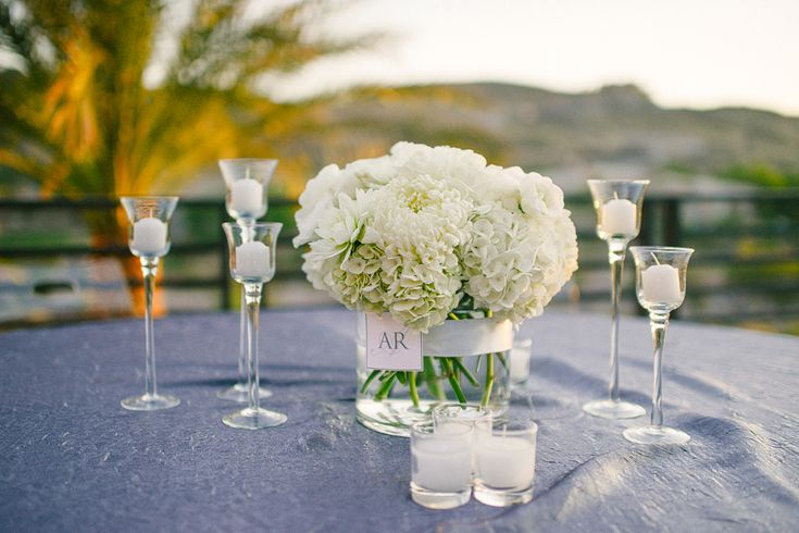 Hydrangea Centerpieces White : White centerpieces google search tabletop flowers