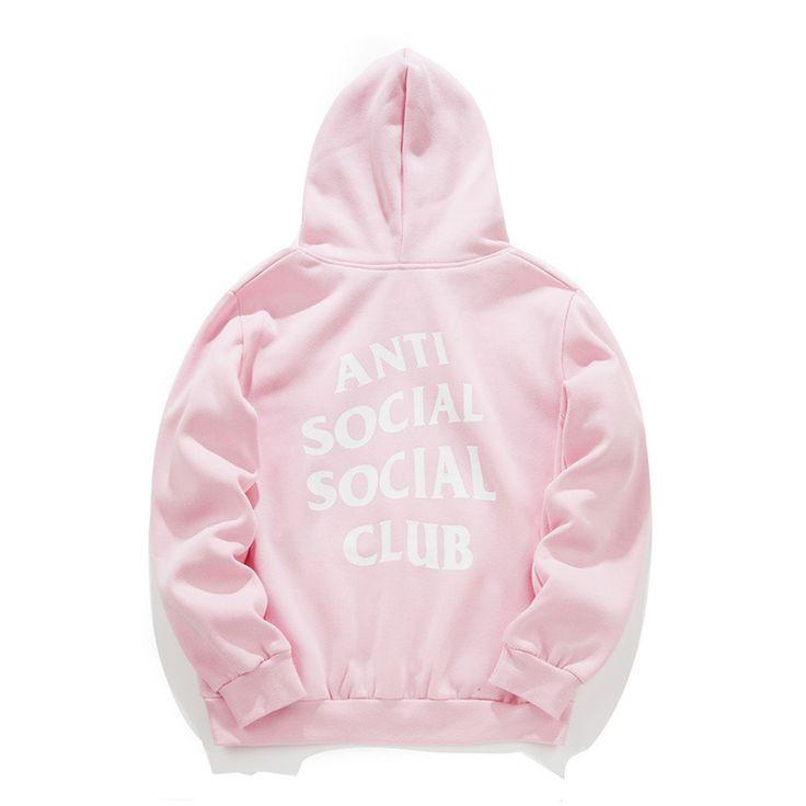Treetwear Hip Hop Kanye West Black/White/Pink Hoodie Fashion Killa Brand Clothing Skate Sweatshirts Assc Anti Social Social Club //Price: $1409.31 & FREE Shipping //     #hashtag2